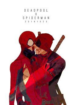 Marvel Memes, Marvel Comics, Deadpool X Spiderman, Best Superhero, Marvel Fan Art, Man Thing Marvel, Spideypool, Cool Drawings, Comic Art
