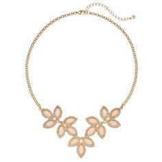 LC Lauren Conrad Flower Cabochon Necklace
