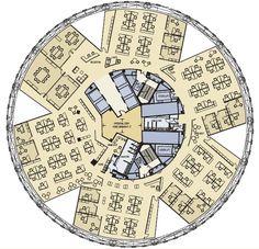 Swiss Re, London, UK. Foster+Partners. Interior Space Plan.
