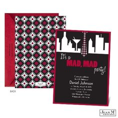 Host a Mad Men themed birthday party with these new Mad Party Birthday Invitations!