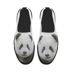 Panda Bear Apus Slip-on Microfiber Women's Shoes. FREE Shipping. FREE Returns #sneakers #panda