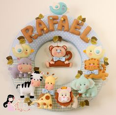 Felt Guirlanda Safári Baby do Rafael ♡