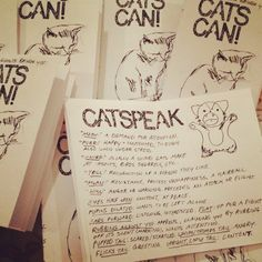 CATS CAN training guide zine by smallghosts