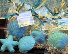 10 Seashell Starfish Soaps Party Favors for by SweetbodySoaps, $25.00