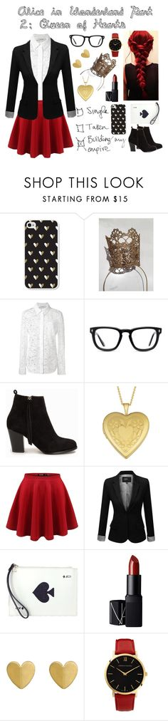 """""""Alice in Wonderland Part 2: Queen of Hearts"""" by avellines ❤ liked on Polyvore featuring Brika, Altuzarra, Muse, Nly Shoes, Fremada, J.TOMSON, Kate Spade, NARS Cosmetics, Larsson & Jennings and aliceinwonderland"""