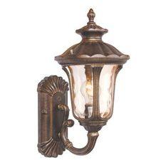 "Rosalind Wheeler Bodrum 1 Light Outdoor Sconce Size / Bulb Type: 18"" H x 9.5"" W x 11"" D / Medium Base Bulb"