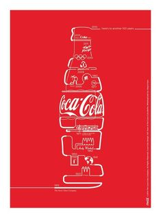 25 Creative Coke Ads - Coca-Cola Ads At Their Best - Ateriet Coca Cola Poster, Coca Cola Ad, Always Coca Cola, Coca Cola Vintage, Pub Coca, Coke Ad, New Years Poster, Bottle Design, Ad Design