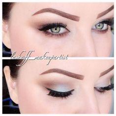 eyeshadow instagram  green eyes lashaff_makeupartist