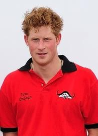 English: Prince Harry at a 2009 charity match ...