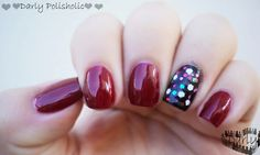 ♥♥♥ Darly Polisholic ♥♥♥: ♥♥ Swatch - Glitters navideños de Glow + Bordeaux ♥♥