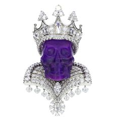 Dior Joaillerie Victoire de Castellane Kings and Queens Roi de Sugilite Pendant | From a unique collection of vintage drop necklaces at https://www.1stdibs.com/jewelry/necklaces/drop-necklaces/