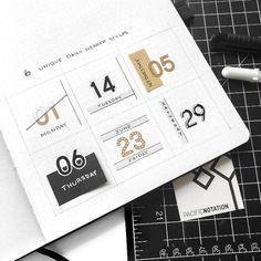 6 unique ways to use number stickers from @thepacificline! Bullet Journal Writing, Bullet Journal Aesthetic, Bullet Journal Ideas Pages, Bullet Journal Inspiration, Kids Calendar, Calendar Pages, December Calendar, Calendar Design, Journal Themes