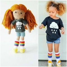 DIYING over these customized crochet dolls to look like your child! So awesome!