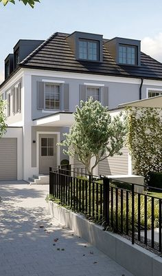 Hadern Steinbruchweg - LINK GmbH - The Munich-based manufacturer Hadern St . - Hadern Steinbruchweg – LINK GmbH – The Munich House Manufactory Hadern Steinbruchweg – LINK G - Classic Architecture, House, Front Yard Landscaping Design, Architecture Fashion, Architecture Blog, Commercial And Office Architecture, House Styles, Backyard Landscaping Designs, Home Theater
