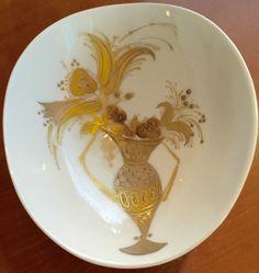 Vintage Bjorn Wiinblad Rosenthal Studio Linie Line Applied Gold Bowl Winblad   eBay