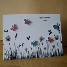 Reserved for Sarah x 4 Cards  Butterflies & by AuntyJoanCrafts, £8.50