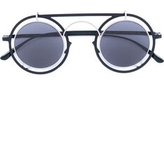 Mykita Siru sunglasses (2,195 MYR) ❤ liked on Polyvore featuring accessories, eyewear, sunglasses, black, mykita sunglasses, mykita, unisex glasses, mykita glasses and unisex sunglasses