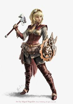 female Half-Elf Cleric (Dinvaya Lanalei Full Body by MiguelRegodon on DeviantArt) Fantasy Warrior, Fantasy Rpg, Medieval Fantasy, Fantasy Girl, Dungeons And Dragons Characters, Dnd Characters, Fantasy Characters, Female Characters, Fantasy Figures
