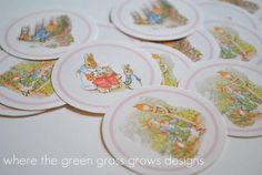 Beatrix Potter Peter Rabbit Sticker Labels by TheGreenGrassGrows