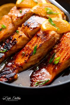 Crispy Honey Orange Glazed Salmon
