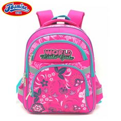 ff1507e4db JASMINESTAR Children s School Bag Backpack Girl Large Orthopedic Student  Grade 1-6 Primary Floral Print