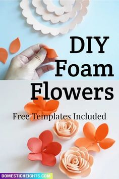 diy foam flowers, diy foam roas diy foam flower wall How To Make Paper Flowers, Giant Paper Flowers, Diy Flowers, Foam Flower, Flower Petals, Flower Wall, Flower Petal Template, Paper Flower Tutorial, Foam Crafts