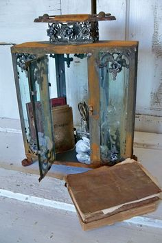 Ornate display case glass metal rusted by AnitaSperoDesign on Etsy
