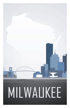 stellar milwaukee skyline print.