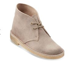Womens Desert Boot Taupe Distressed Suede