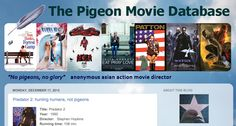 What on Earth is this? A blog that gives in-depth analyses of pigeons in popular films. Why in the hell? Two reasons: 'To provide a summary about pigeon appearances in movies and series and an analysis of why they are used.'