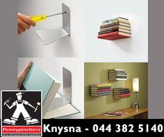 Why not try this very easy floating bookshelf project this weekend? Be a #weekendwarrior with #Pennypinchers #Knysna and get all the necessary tools for your #DIY projects.