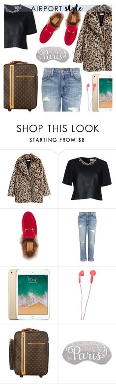 """""""airport style"""" by freshprincesse ❤ liked on Polyvore featuring Erdem, Gucci, Current/Elliott, Forever 21 and Louis Vuitton"""