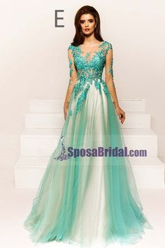 Custom Formal Sexy Colorful Lace Long Sleeve Open Back Long Evening Prom Dresses, Elegant Dresses, Cute Dresses, Prom Dresses, Formal Dresses, See Through Prom Dress, Dresser, Elastic Satin, Silhouette, Couture