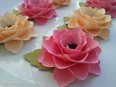 Paper Flowers  Handmade  Elizabeth Rose  by morepaperthanshoes, $250.00