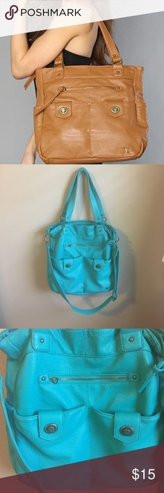 Hurley Turquoise Tote/Crossbody Good used condition 😊 Some spots and wear. You can wear as a crossbody or shoulder bag! Hold a lot; perfect for school or work. Hurley Bags