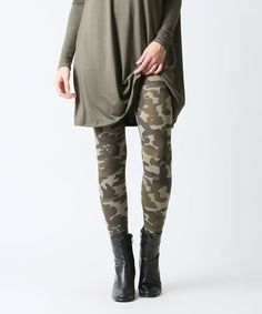 Green Camo Leggings #zulily #zulilyfinds