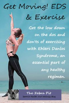 Learn how to exercise safely with EDS, HSD, JHS, Loeyz-Deitz and other collagen disorders. Includes what types of exercise are best, what moves to avoid to prevent injury and when to seek help. Chronic Illness, Chronic Pain, Ehlers Danlos Hypermobility, Elhers Danlos Syndrome, Get Moving, Invisible Illness, Pain Management, Injury Prevention, How To Stay Healthy