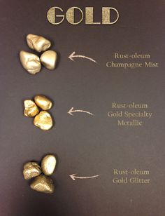 Not all gold spray paint is created equal. For a light gold non-brassy shimmer, Rust-oleum Champagne Mist is a good choice. If you're looking for a true metallic gold, nothing beats Rust-oleum...