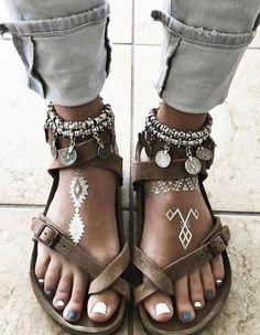 Boho estilo sandalias Fuente