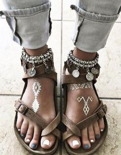 #summer #trending #shoes | Boho Style Sandals