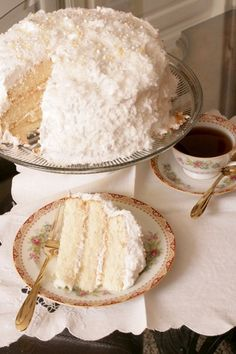 Lady Baltimore Cake - light white cake with orange marmalade filling and a light marshmallow/coconut frosting.  I can't wait to try this!