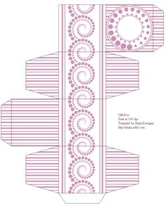 A beautiful free printable template for a DIY favour box
