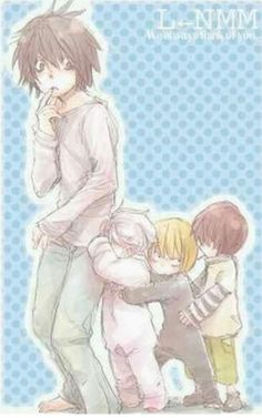 L, Near, Mello, and Matt so cute