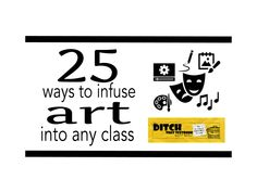 25 ways to infuse art into any class - Ditch That Textbook Arts Integration, Student Learning, Educational Technology, Art Education, Textbook, Social Studies, Curriculum, Teaching, Math