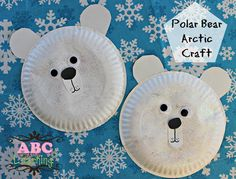 Easy Kids Polar Bear Arctic Craft! Perfect for Toddlers and Preschoolers. Plus they make a great craft to make when learning about Arctic Animals!