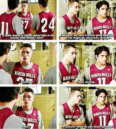 """""""A unicorn. What do you think dumbass? So funny, haha. I love Dylan O'Brien (Teen Wolf) Teen Wolf Memes, Teen Wolf Quotes, Teen Wolf Funny, Tv Quotes, Teen Wolf Dylan, Teen Wolf Stiles, Teen Wolf Cast, Tyler Posey, Stydia"""