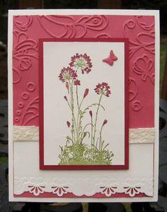 SU Serene Silhouettes  Paper: Very Vanilla, Primrose Petals, Raspberry Ripple