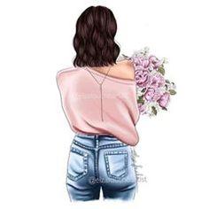Cute Girl Drawing, Cartoon Girl Drawing, Girl Cartoon, Fashion Illustration Face, Cute Canvas Paintings, Pop Art Girl, Girly Drawings, Cute Girl Wallpaper, Fashion Wall Art