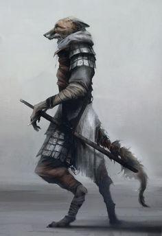 Fox warrior II, Digital, 1028x1500px