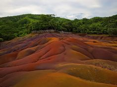 18 Amazing And Surreal Natural Phenomena That Occur On Earth...These sand dunes located in the south of Mauritius are composed of many layers of different colored sands. The colors are the result of the earth's transition from lava to clay minerals. Although visitors are not allowed to climb on the dunes, there are viewing platforms to allow them to take in the beauty.